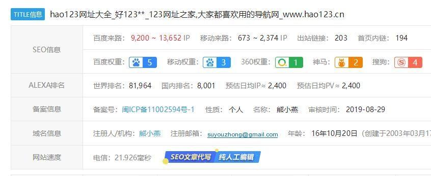 网站赚钱:详解hao123网址之家、导航网站、网址之家的那些事